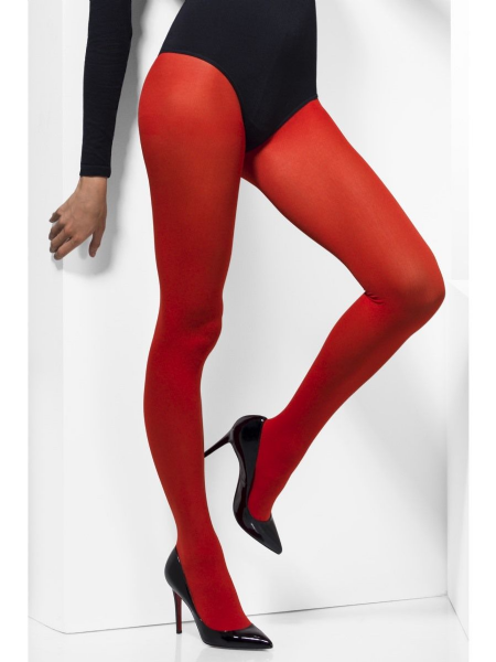 Opaque Tights - Red